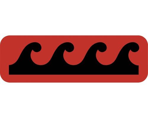 Dekorschablone Bordüre Welle 44 x 14 cm