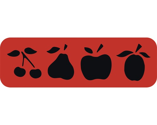 Dekorschablone Bordüre Obst