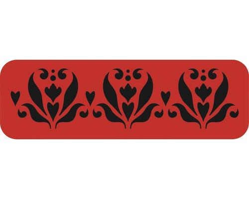 Dekorschablone Bordüre Blumen 44 x 14 cm