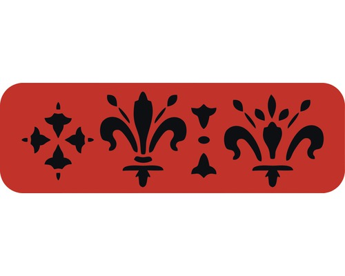 Dekorschablone Bordüre Kronen