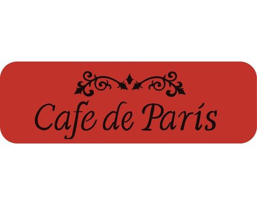 Dekorschablone Bordüre Cafe de Paris 44 x 14 cm