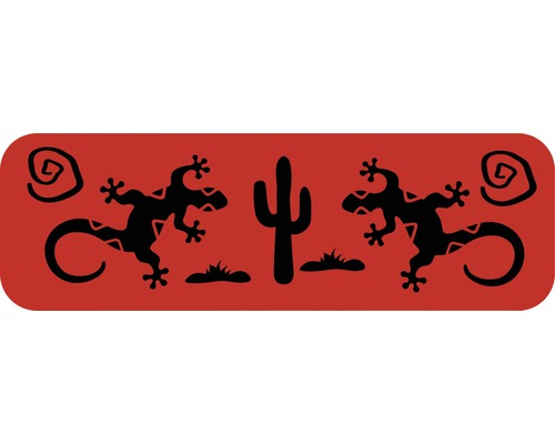 Dekorschablone Bordüre Gecko Wüste