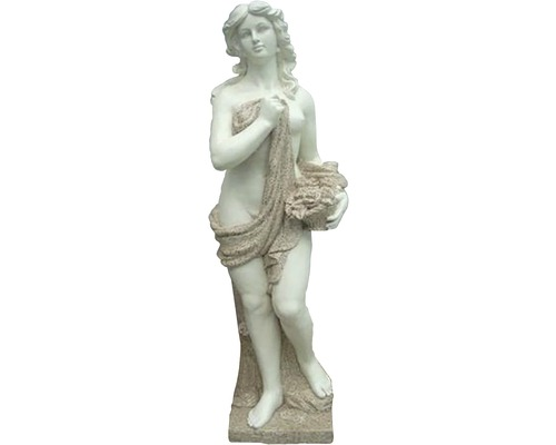 Gartenfigur Calypso Fiberglas 33x28x110 cm antikweiß