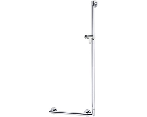 Winkelgriff KEUCO Plan Care 90° mit Brausehalter 56,5 x 126,5 cm aluminium silber-eloxiert 34906