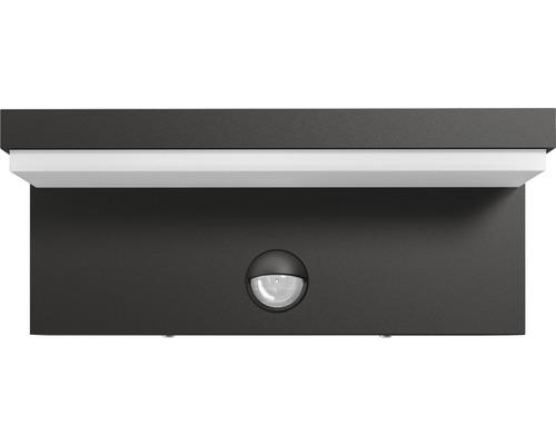 LED Sensor Wandaußenleuchte 4,5W 1000 lm warmweiß Bustan anthrazit