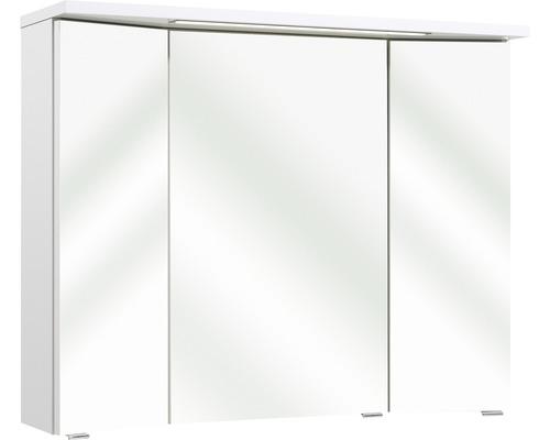 Spiegelschrank pelipal 3 trg. Enna I weiß 72x90 cm IP 44 (fremdkörper- und spritzwassergeschützt)