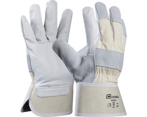 Leder-Handschuh weiss Gr. 10,5 worker