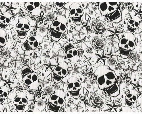 Wassertransferdruck Folie Skulls CD-515-MS 100 x 50 cm