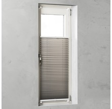 Soluna Plissee-Faltstore mit Seitenverspannung, taupe 60x130 cm