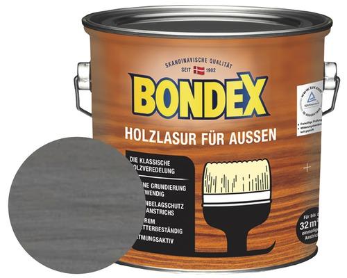 BONDEX Holzlasur dunkelgrau 2,5 l