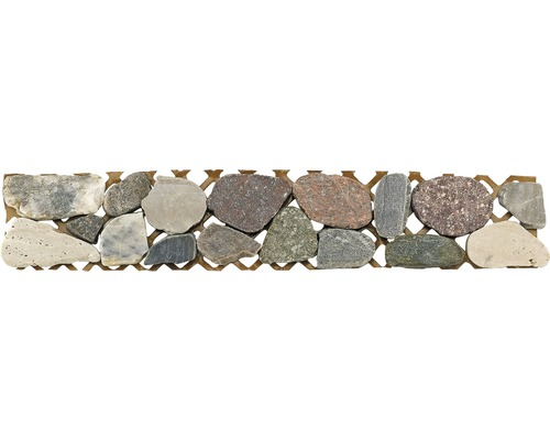 Bordüre Flusskiesel grau 5x30 cm