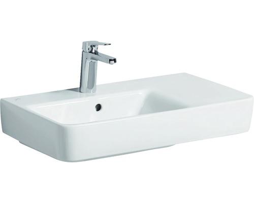 Keramag / GEBERIT Waschtisch Renova Compact 65 cm Ablage rechts weiß mit KeraTect Glasur 226165600