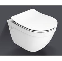 Jungborn Wand-WC-Set Ella verkürzt spülrandoffen weiß mit WC-Sitz
