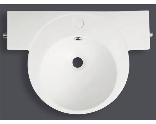 Jungborn Waschtisch Evina 55 cm weiß mit integrierten Handtuchhaltern und Nano Beschichtung