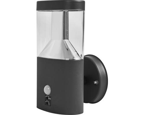FLAIR LED Sensor Außenwandleuchte 7,5W 450 lm 3000 K warmweiß Muscida schwarz H 230 mm