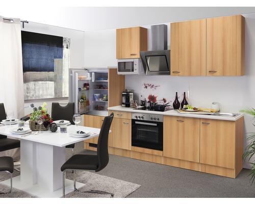 Küchenzeile Nano 280 cm inkl. Einbaugeräte buche-dekor
