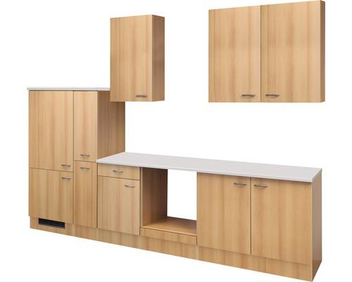 Küchenleerblock Nano 300 cm buche-dekor