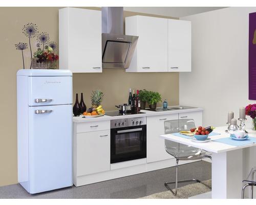 Küchenzeile Wito 220 cm inkl. Einbaugeräte weiß