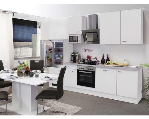 Küchenzeile Wito 280 cm inkl. Einbaugeräte weiß