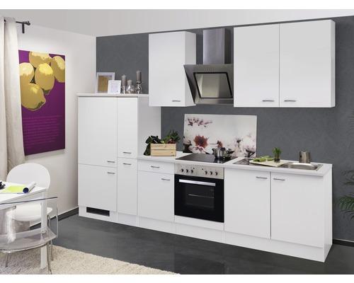 Küchenzeile Wito 300 cm inkl. Einbaugeräte weiß