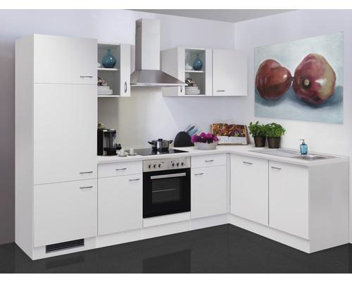 Winkelküche Wito 280x170 cm inkl. Einbaugeräte weiß