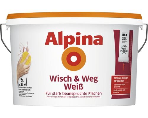 Alpina Wandfarbe Wisch & Weg weiß 5L