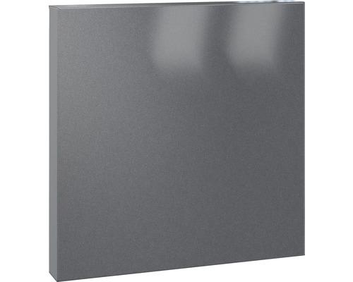 Serafini Briefkasten Stahlblech pulverbeschichtet BxHxT 360/360/100 mm SQUARE grau DB703 30.7125.45-045 mit Öffnungsstopp