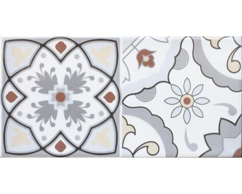 Steingut Dekorfliese Loft mi x 20 x 10 cm mit glänzender Rundkante mi x