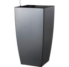Pflanzvase Lafiora Kunststoff 31x31x57 cm anthrazit matt inkl. Erdbewässerungssystem und Wasserstandsanzeiger