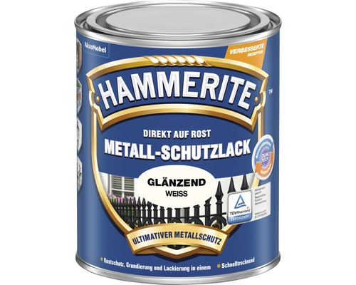 HAMMERITE Metallschutzlack glänzend weiß 2,5 l