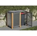 Mülltonnenbox Erweiterungselement Kirchdorf 75x123 cm grau-braun