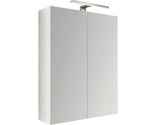 Spiegelschrank LED 60x60 cm weiss IP 44 (fremdkörper- und spritzwassergeschützt)