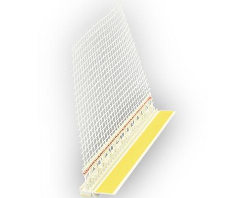 Anputzleiste PVC inkl. Schutzlippe und Gewebe Länge: 2,60mtr.