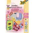 Jumbo-Fotokartonblock bunt 24x34 cm