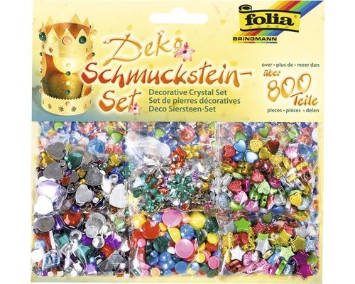 Schmucksteine bunt 800er-Set