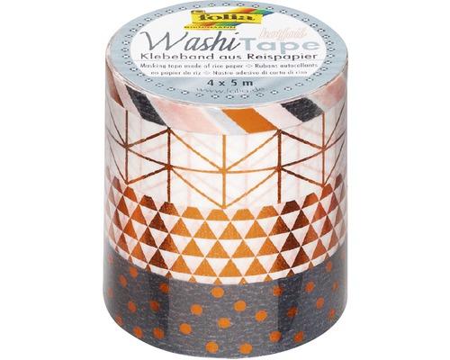 Washi-Tape Hotfoil Kupfer 4er-Set