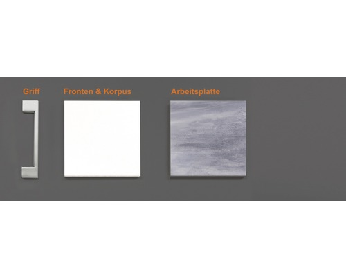 Musterpaket Küchenzeile LUCCA 190 x 170 x 70 mm
