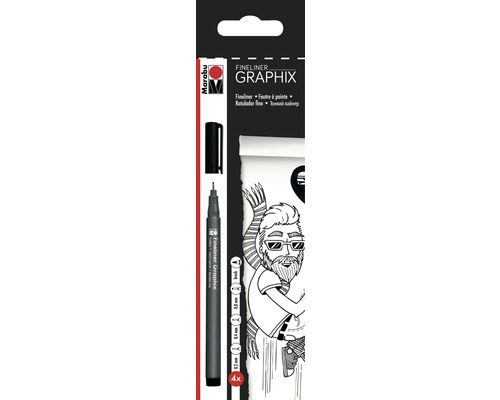 Marabu Fineliner Graphix 4er-Set
