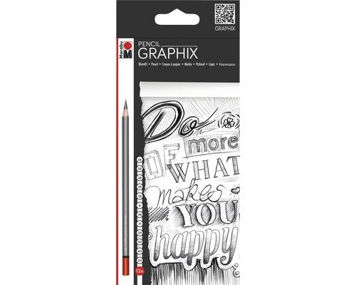 Marabu Pencil Graphix Bleistifte 12er-Set
