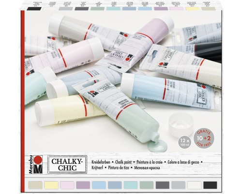 Marabu Kreidefarbe Chalky-Chic 100 ml 12er-Set
