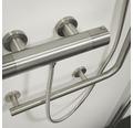 Duschstange mit Sicherheitsgriff TIGER Boston Comfort & Safety rechts edelstahl gebürstet