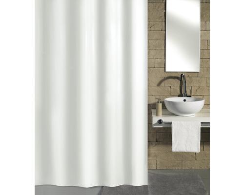 Duschvorhang Kleine Wolke Kito weiß Textil 120 x 200 cm
