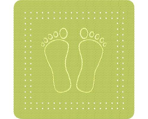 Duscheinlage Kleine Wolke Foot grün 55 x 55 cm