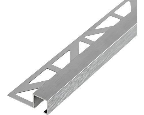 Abschlussprofil Dural Squareline 11 mm Länge 250 cm Aluminium