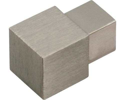 Aussenecke Dural Squareline Alu Titan bebürstet10 mm Inhalt 2 Stück