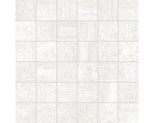 Feinsteinzeugmosaik District blanco 30x30 cm