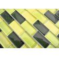 Glasmosaik XCM B854 mix grün 32,2x31 cm