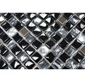 Glasmosaik XCM M780 mix schwarz 30x30 cm