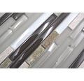 Glasmosaik mit Naturstein XCM MV808 grau/braun 30x30 cm