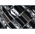 Glasmosaik XCM SM38 mix schwarz 30x30 cm